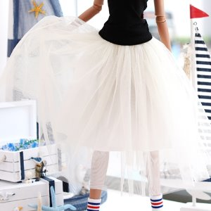 SD13 GIRL & Smart Doll long sha skirt - Ivory
