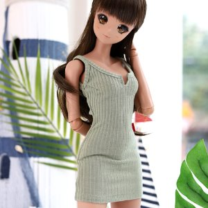 SD13 GIRL & Smart Doll Sleeveless Dress - Khaki