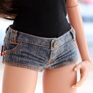 SD13 GIRL & Smart Doll New Washing Hot Pants - D.Blue